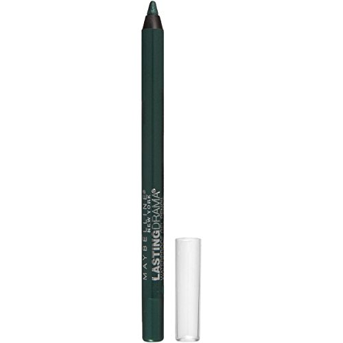 Maybelline New York Eyestudio Lasting Drama Waterproof Gel Pencil, Glossy Emerald, 0.038 Ounce