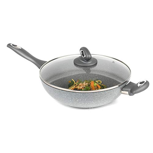 Salter BW02772G Marble Collection Forged Aluminium Non Stick Wok, 28 cm,...
