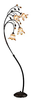 OK Lighting OK-9143 Windance Floral Floor Lamp, 74-Inch, Dark Antique Bronze