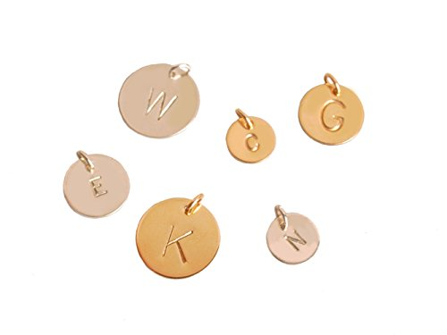 Pendant Sterling Initial Silver (Extra Initial, Different Size Charm in Sterling Silver or Gold Filled, Add Custom Initial to Any Necklace (sterling-silver, 10 Millimeters))