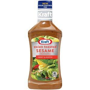 Kraft Asian Toasted Sesame Salad Dressing & Marinade 16oz Bottles (Pack of 3)
