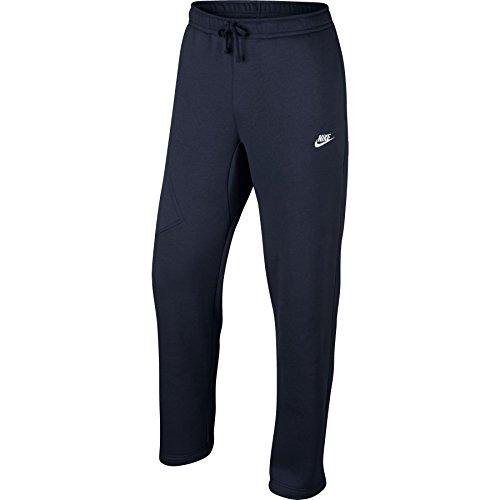 Nike Mens Open Hem Fleece Pocket Sweatpants Obsidian/Whit...