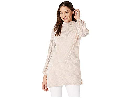 BCBGeneration Funnel Neck Tunic Long Sleeve Knit Top Rose Smoke LG (US 12) from BCBGeneration