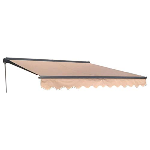 ALEKO AWC13X10SAND31 Half Cassette Retractable Patio Awning 13 x 10 Feet (3.9 x 3 Meters) Sand (Cover Patio Diy Fabric)