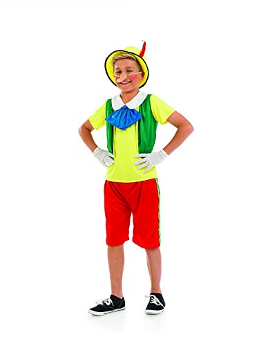 Boys Real Boy Wooden Puppet Costume Kids Fairytale Book Week Outfit - -