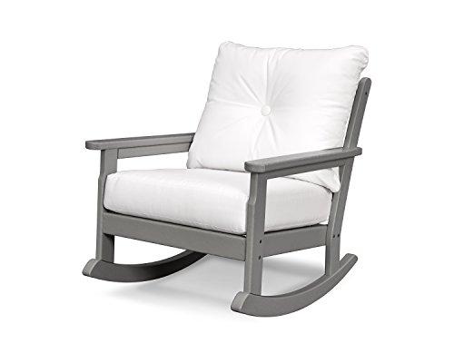 Vineyard Deep Seating Rocking Chair (Slate Grey/Natural) (Furniture Seating Deep Outdoor Newport)
