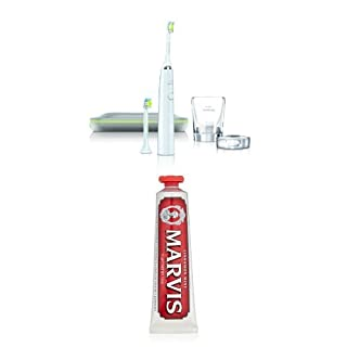 Philips Sonicare DiamondClean Sonic Electric Toothbrush, White and Marvis Cinnamon Mint Toothpaste, 3.8 Oz (B01DJHCTMM) | Amazon price tracker / tracking, Amazon price history charts, Amazon price watches, Amazon price drop alerts