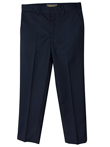 Spring Notion Boys' Flat Front Dress Pants 3T (Boys Navy Dress Pants)