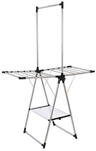GreenWay Stainless Steel Indoor/Outdoor Compact Drying Center with Mesh Shelf
