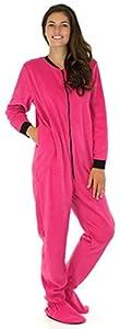 PajamaMania Women's Fleece Onesie Footed Pajama Pjs