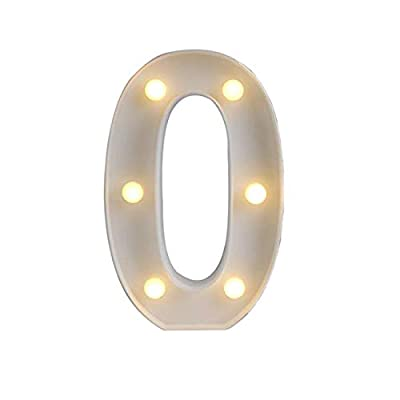 Ogrmar White Light Up Marquee LED Alphabet Sign for Party Home Bar Wedding Decor, Alphabet Wall Decoration Letter Lights