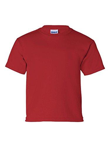 Red Youth Heavyweight T-shirt - Gildan G200B Youth 6.1 oz Ultra Cotton T-Shirt - Red - M