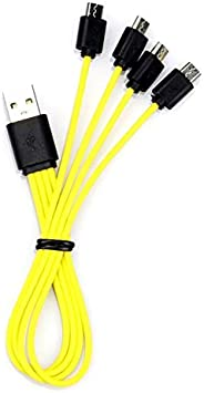 Opinión sobre ZNTER Universal One Drag 1/2/3/4 Cable de carga Micro USB Línea para baterías recargables USB Accesorio
