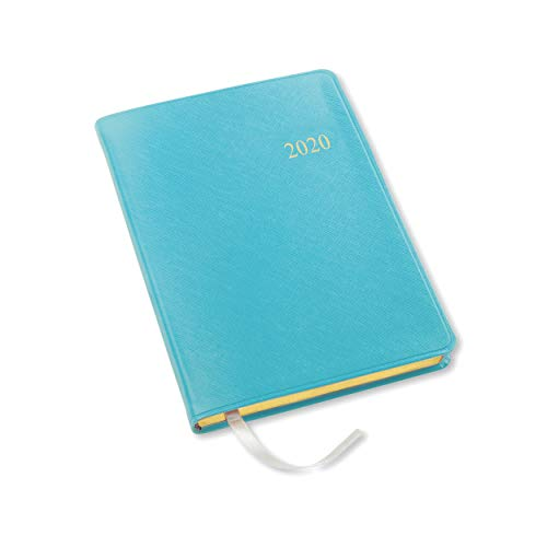 Leather Weekly - 2020 Gallery Leather Desk Weekly Planner Key West Turquoise 8