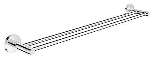 (Grohe 40802001 Essentials Double Towel Bar, 26.182 x 4.725 x 2.363, Chrome)