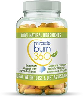 Fast Acting Weight Loss Pills. Natural Appetite Suppressant & Fat Burner Supplement to get Slim Fast - Lose Weight or 100% Money Back Guaranteed (1 Bottle - 30 Diet Pills) - Miracle Burn 360 by Miracleburn