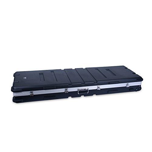 Crossrock CRA888KBK 88 Keys Keyboard Hardshell Case, Custom Inside, with Wheels, Black by Crossrock
