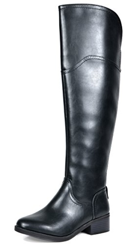 TOETOS Women's Hope Black Over The Knee Riding Boots Size 8.5 M US