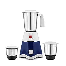 Cello Lifestyle 500-Watt Mixer Grinder with 3 Jars (Blue/White)