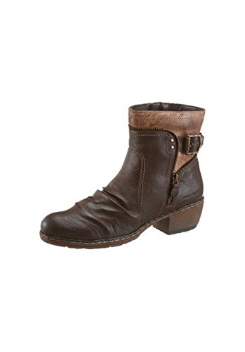 Unbekannt Stiefelette - Botas de Material Sintético para mujer marrón oscuro