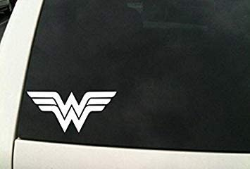 Logo Car Truck Window Laptop Sticker SD Smart Wonder Woman WW Superhero Die Cut Vinyl Decal Sticker