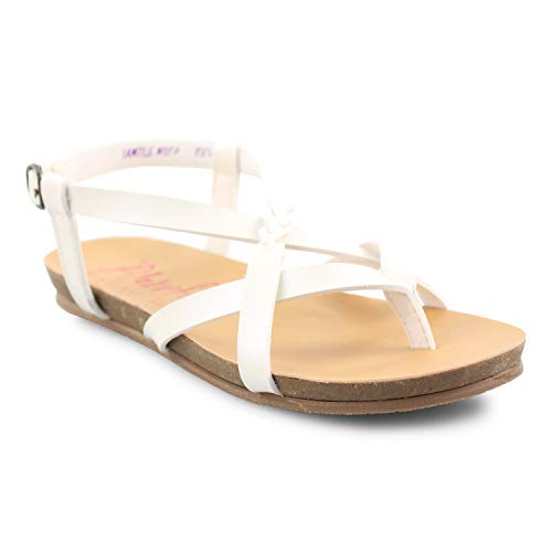 Blowfish Malibu Kids' Granola-B-K Sandals (2, Pearl White Dyecut Pu)