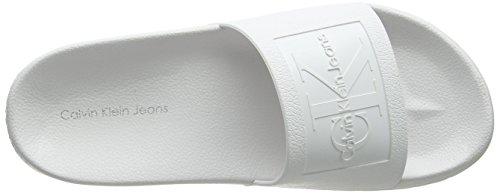 Calvin Klein Jeans Men's Vincenzo Jelly Open Toe Sandals White (Wht 000) HgHz07pKf