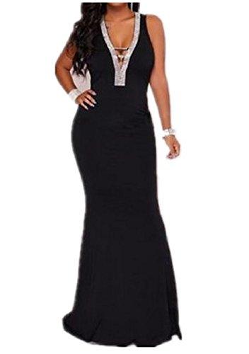 RSunshine Women Plus Size See Through Elbow Sleeve Cowl Neck Shift Dress Black M (Neck Dress Shift Cowl)