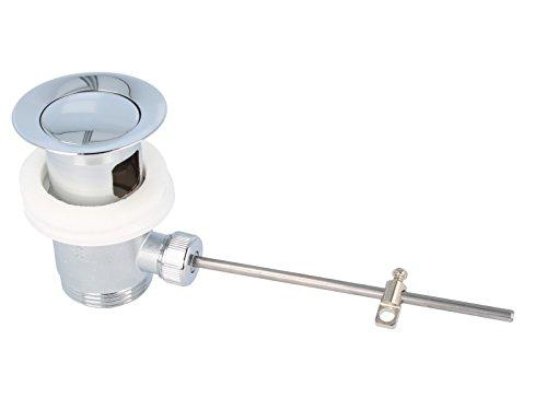 tecuro Exzenter Ab- und Überlaufgarnitur chrom/sandgestrahlt für Waschtisch