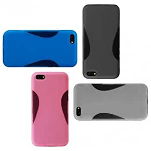 Unique Miller Mixed Design TPU Soft Back Case Cover for iPhone 5C --- Color:Blue