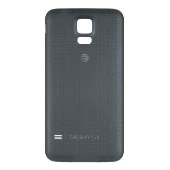OEM Samsung Galaxy S5 SM-G900A AT&T Battery Door Back Cover Replacement - Charcoal Black