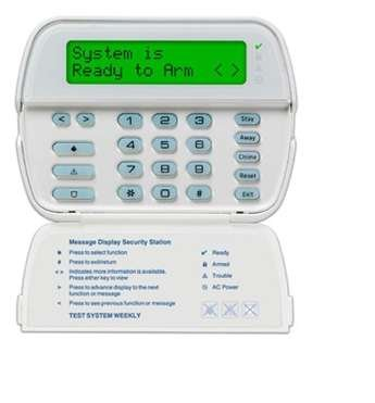 Tyco 64 ZONE FULL MESSAGE KEYPAD W/ BUILTIN WIRELESS RECEIVER RFK5500 by DSC
