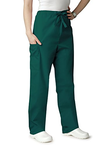 AZ Uniforms Men Women Natural-Rise Drawstring Halloween Costume Party Pants - 504 - Hunter Green - L