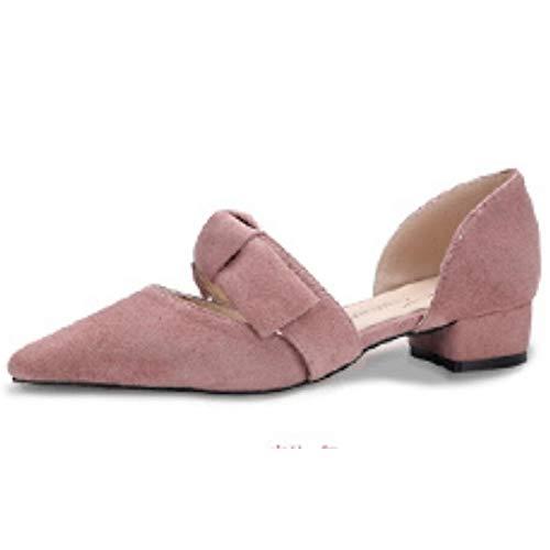 Heel ZHZNVX Heels Almond Pump PU Spring Black Shoes Chunky Pink Basic Women's Polyurethane Black Comfort rqwrvCx