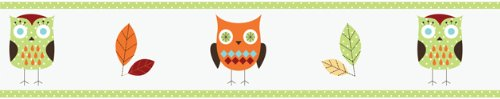 Sweet Jojo Designs Turquoise and Lime Hooty Owl Children and Kids Wall Border