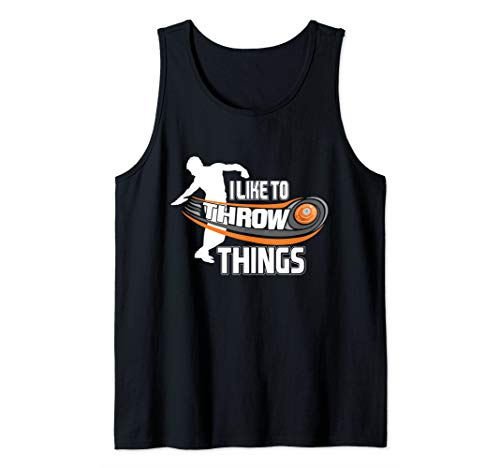 I Like To Throw Things Track Field Discus Athlete Tank Top