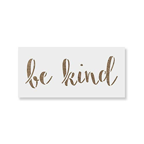 A Kind Painting - Be Kind Stencil Template for Walls and Crafts - Reusable Stencils for Painting in Small & Large Sizes