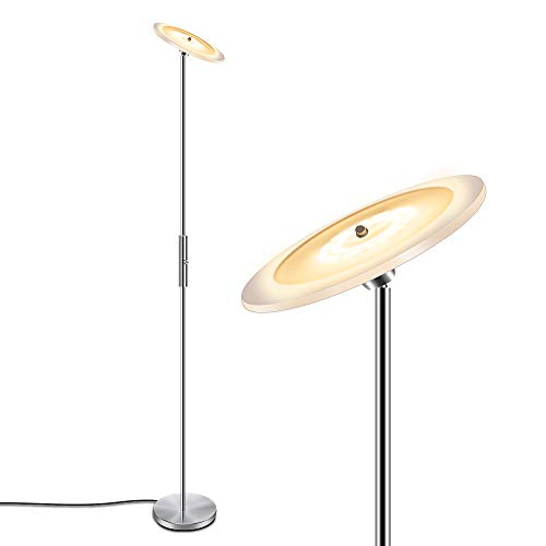 SUNLLIPE LED Torchiere Floor Lamp 18W Dimmable Adjustable 70.5