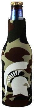 Michigan State Spartans Camo Bottle Suit Koozie Cooler - Camo Bottle Suit