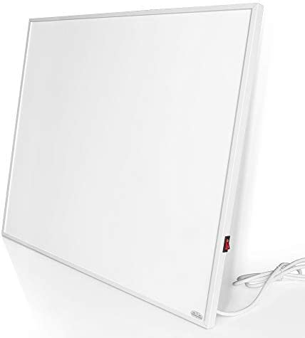 壁に取り付けられた電気ヒーター、赤外線ヒーター、130平方フィートの部屋のための放射熱パネル、120V / 500W壁の芸術、エネルギー効率が良い、即刻の暖房スペースヒーター (500W-White)