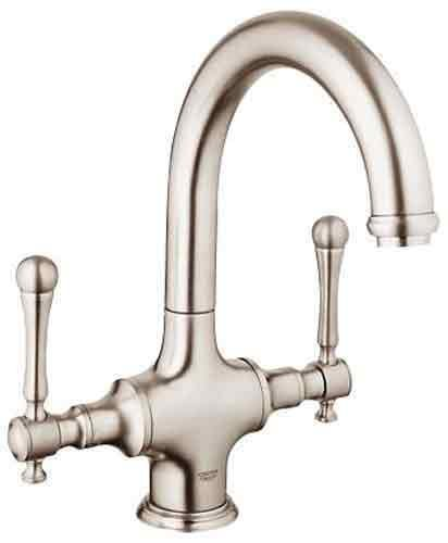 (Grohe K31055-18244-ENE Bridgeford Bar Faucet with Handles)
