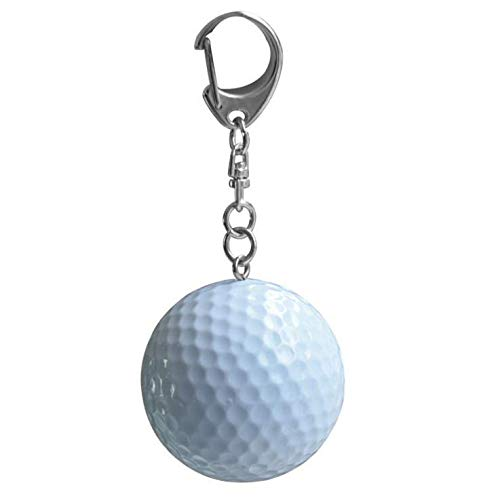 Keychain Shaped Ball - Kinue Brand New and Mini Golf Keychain Rubber Keyring Sports Style Trinkets Fashion Pendant Bag Ornament Creative Gift