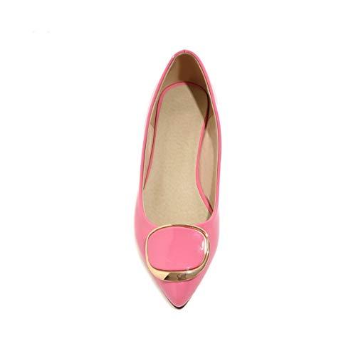 Dames Bas Slip Talons Talons Pompes Pompes Printemps Chaussures de Femmes Rose Chaussures de Chaussures Mariage on mariée PxHnWw8O