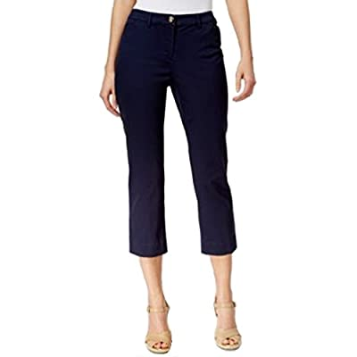 Charter Club Petite Cropped Twill Pants (Intrepid Blue, 10 Petite) at  Women's Clothing store