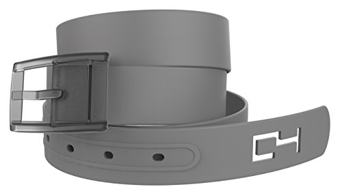 Gray Golf Belt with Gray Buckle - Adjustable for Waist Size up to 44 Inch, Hypoallergenic - by C4 Belts