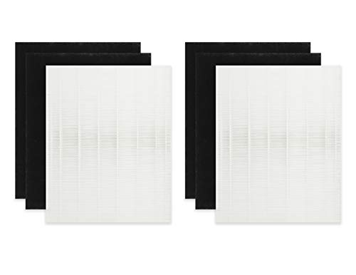 (Fette Filter - Air Purifier Filters Compatible with Coway 3304899. Compare to Part # AP1512HH & - AP-1512HH. 2 HEPA Filters Plus 4 Carbon Pre-Filters )