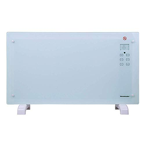 Homeleader Electric Panel Heater Crystal Glass Flat Convector Heater with...