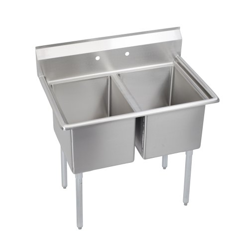 E-Series 2-Compartment Sink, no drainboard by Elkay Foodservice