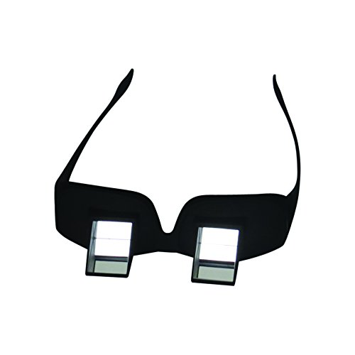 Evelots Prism Glasses Horizontal Lazy Spectacles, Read/Watch TV Lying - Prizm Glasses