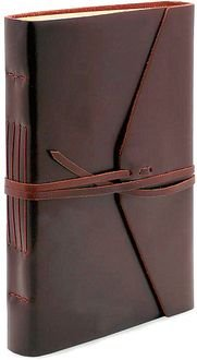 Wrapped Journal (Bombay Brown Leather Journal with Tie 6 x 8.5)